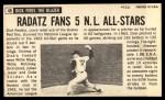 1964 Topps Giants #40  Dick Radatz   Back Thumbnail