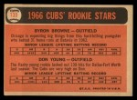 1966 Topps #139   -  Bryon Brown / Don Young Cubs Rookies Back Thumbnail