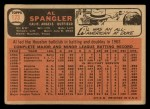 1966 Topps #173   Al Spangler Back Thumbnail
