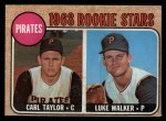 1968 Topps #559  Pirates Rookies  -  Carl Taylor / Luke Walker Front Thumbnail