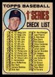 1968 Topps #67 A Checklist 1  -  Jim Kaat Front Thumbnail