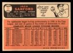 1966 Topps #23   Jack Sanford Back Thumbnail