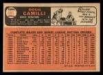 1966 Topps #593   Doug Camilli Back Thumbnail