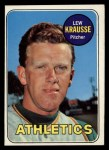 1969 Topps #23   Lew Krausse Front Thumbnail
