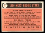 1966 Topps #67  Mets Rookies  -  Cleon Jones / Dick Selma Back Thumbnail