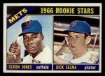 1966 Topps #67  Mets Rookies  -  Cleon Jones / Dick Selma Front Thumbnail