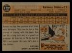 1960 Topps #127  Rookies  -  Ron Hansen Back Thumbnail