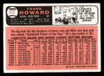 1966 Topps #515  Frank Howard  Back Thumbnail