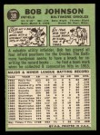 1967 Topps #38 ERR  Bob Johnson Back Thumbnail