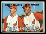 1967 Topps #109  Tribe Thumpers  -  Rocky Colavito / Leon Wagner Front Thumbnail