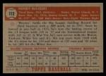 1952 Topps #112   Hank Majeski Back Thumbnail