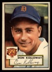 1952 Topps #104  Don Kolloway  Front Thumbnail