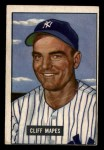 1951 Bowman #289  Cliff Mapes  Front Thumbnail