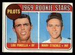 1969 Topps #394   -  Lou Piniella / Marv Staehle Pilots Rookies Front Thumbnail