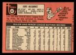 1969 Topps #437  Luis Alcaraz  Back Thumbnail