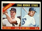 1966 Topps #234  Yankees Rookies  -  Roy White / Rich Beck Front Thumbnail