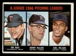 1967 Topps #235   -  Jim Kaat / Denny McLain / Earl Wilson AL Pitching Leaders Front Thumbnail