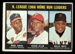 1967 Topps #244  1966 NL Home Run Leaders  -  Hank Aaron / Dick Allen / Willie Mays Front Thumbnail