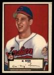 1952 Topps #10 BLK  Al Rosen Front Thumbnail