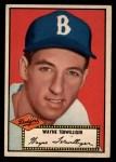 1952 Topps #7 BLK  Wayne Terwilliger Front Thumbnail