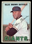 1967 Topps #83  Ollie Brown  Front Thumbnail