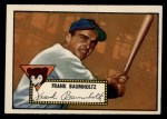 1952 Topps #225   Frank Baumholtz Front Thumbnail
