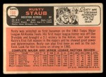 1966 Topps #106  Rusty Staub  Back Thumbnail