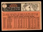 1966 Topps #294   Steve Ridzik Back Thumbnail