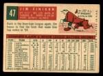 1959 Topps #47   Jim Finigan Back Thumbnail