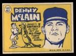 1970 Topps #467  All-Star  -  Denny McLain Back Thumbnail