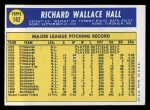 1970 Topps #182   Dick Hall Back Thumbnail