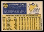 1970 Topps #636  Jim Stewart  Back Thumbnail