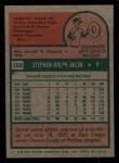 1975 Topps Mini #159   Steve Arlin Back Thumbnail