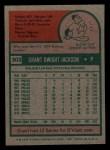 1975 Topps Mini #303  Grant Jackson  Back Thumbnail