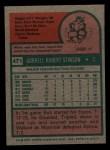 1975 Topps Mini #471   Bob Stinson Back Thumbnail