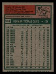 1975 Topps Mini #564  Tommy Davis  Back Thumbnail