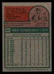 1975 Topps Mini #365   Bob Bailey Back Thumbnail