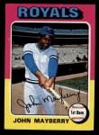 1975 Topps Mini #95  John Mayberry  Front Thumbnail