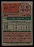 1975 Topps Mini #78   Ray Corbin Back Thumbnail