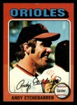 1975 Topps Mini #583  Andy Etchebarren  Front Thumbnail