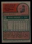 1975 Topps Mini #286   Mike Jorgensen Back Thumbnail