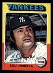 1975 Topps Mini #217  Lou Piniella  Front Thumbnail