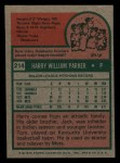 1975 Topps Mini #214  Harry Parker  Back Thumbnail