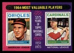1975 Topps Mini #202  1964 MVPs  -  Brooks Robinson / Ken Boyer Front Thumbnail