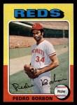 1975 Topps Mini #157   Pedro Borbon Front Thumbnail