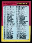 1975 Topps Mini #126   Checklist Front Thumbnail