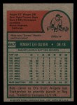 1975 Topps Mini #657   Bob Oliver Back Thumbnail