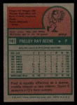 1975 Topps Mini #181   Fred Beene Back Thumbnail