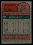 1975 Topps Mini #607  Jim Holt  Back Thumbnail