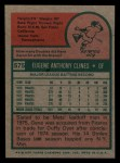 1975 Topps Mini #575  Gene Clines  Back Thumbnail